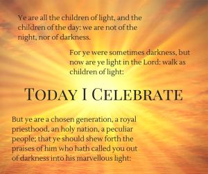 Today I Celebrate